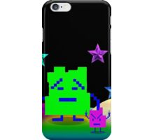 Mooninites are here for your silk pillowcases iPhone Case/Skin
