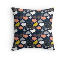 Blooming Fields at Midnight Throw Pillow