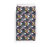 Blooming Fields at Midnight Duvet Cover