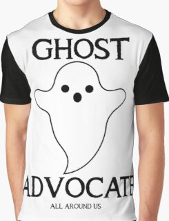 GHOST ADVOCATE - BLACK Graphic T-Shirt