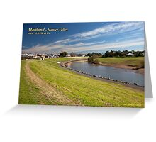 Maitland Riverbank Walk, Hunter River Greeting Card
