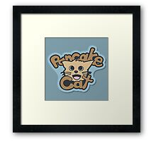 Pancake Cat Framed Print