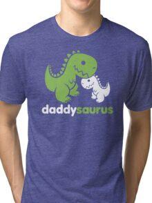 Daddysaurus Dinosaur Dino Tri-blend T-Shirt
