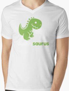 Daddysaurus Dinosaur Dino Mens V-Neck T-Shirt
