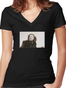 Scotian Angel of War Women's Fitted V-Neck T-Shirt