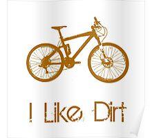 Mountain Bike Dirt Poster