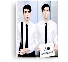 Dan and Phil Get Jobs Canvas Print