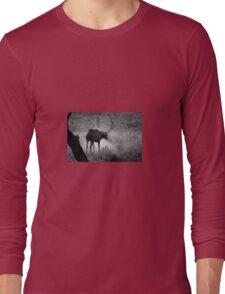 Bull Elk Shakes It Off Long Sleeve T-Shirt