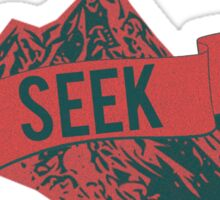 """SEEK"" Mountain Range Sticker"