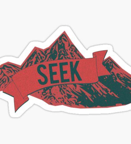 """""""SEEK"""" Mountain Range Sticker"""