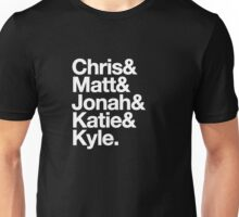 Nerdist Podcast Personnel, Experimental Jetset Style Unisex T-Shirt