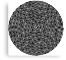 psychedelic spiral in black Canvas Print