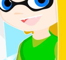 Crossover Link of Zelda and Inkling Female Sticker