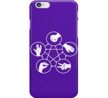 Big Bang Theory Sheldon Cooper Rock Paper Scissors Lizard Spock funny nerd geek geeky iPhone Case/Skin