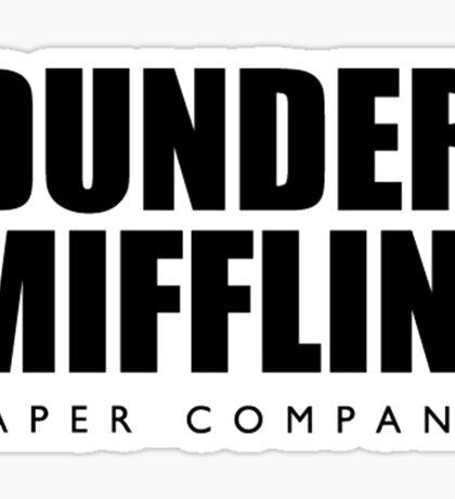 Dunder Mifflin The Office Transparent Sticker
