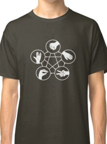 Big Bang Theory Sheldon Cooper Rock Paper Scissors Lizard Spock funny nerd geek geeky Classic T-Shirt
