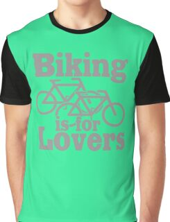 biking is for lovers funny nerd geek geeky Graphic T-Shirt