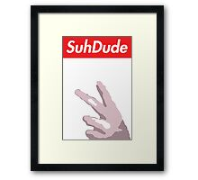 Suh Dude x Supreme  Framed Print