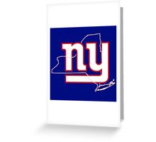 new york Giants- New york state Greeting Card