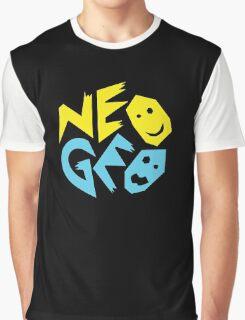 Neo Geo Tribute Yellow & Blue Logo Graphic T-Shirt