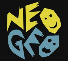 Neo Geo Tribute Yellow & Blue Logo Kids Tee