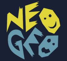 Neo Geo Tribute Yellow & Blue Logo One Piece - Short Sleeve