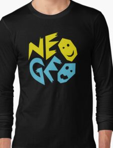 Neo Geo Tribute Yellow & Blue Logo Long Sleeve T-Shirt