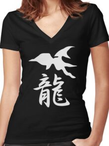 Panzer Dragoon Saga Women's Fitted V-Neck T-Shirt