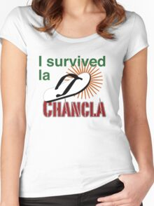 I survived la chancla Women's Fitted Scoop T-Shirt