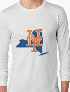 New york Mets- new york state Long Sleeve T-Shirt
