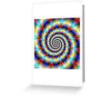 Psychedelic Twist Greeting Card