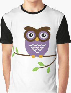 Purple Owl Graphic T-Shirt