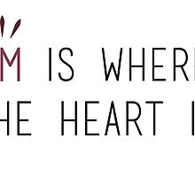 Om is Where the Heart is - Yoga by SarGraphics