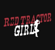 Red Tractor Girl Case IH Kids Tee