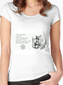 Witches don't... Women's Fitted Scoop T-Shirt