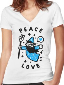 Coolest Wizard Women's Fitted V-Neck T-Shirt