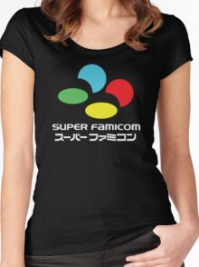 SNES Super Famicom COLOURS Women's Fitted Scoop T-Shirt