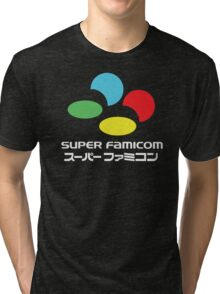SNES Super Famicom COLOURS Tri-blend T-Shirt
