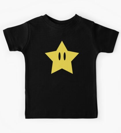 Super Mario Power Star Kids Tee