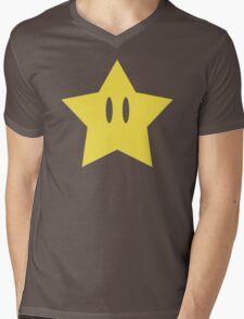 Super Mario Power Star Mens V-Neck T-Shirt