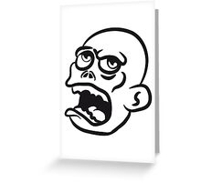 head zombie funny cool Greeting Card