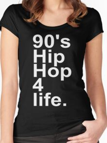 90'S HIP HOP Women's Fitted Scoop T-Shirt
