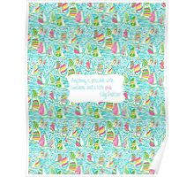 Lilly Inspired Sunshine Pink Quote You Gotta Regatta Poster