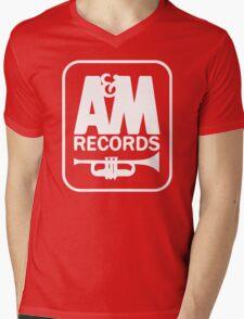A&M RECORDS VINTAGE Mens V-Neck T-Shirt