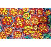 Retro Flower Watercolor Design Photographic Print