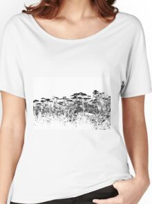 A Field Of Wild Cow Parsnip  Women's Relaxed Fit T-Shirt