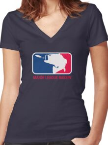 Major League Bassin Women's Fitted V-Neck T-Shirt
