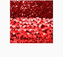 Red & White Hearts Faux Glitter T-Shirt