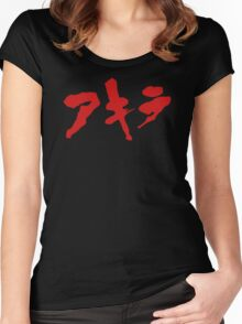 Akira Japanese Kanji Logo Women's Fitted Scoop T-Shirt