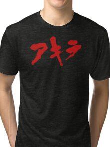 Akira Japanese Kanji Logo Tri-blend T-Shirt